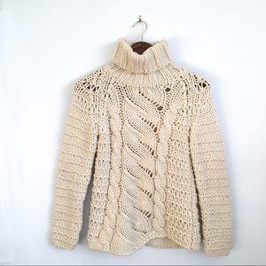 Vintage DKNY Chunky Knit Turtleneck Sweater